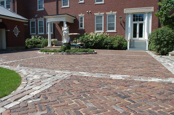 Reclaimed driveway paving stones