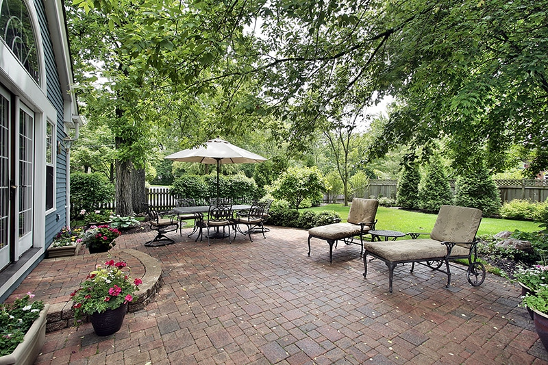 Paver Patios · Wooded Setting