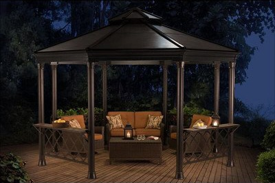 metal gazebo for brick paver patio