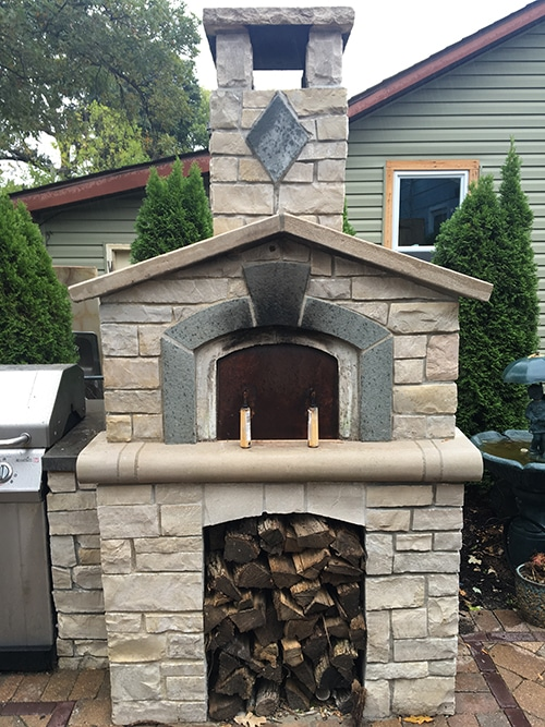 custom made pizza oven with eden veneer