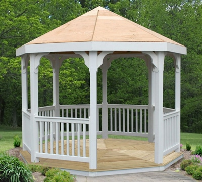 vinyl gazebo for brick patio