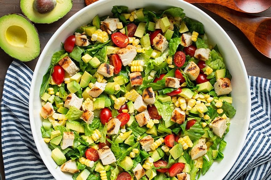 make a fun salad outdoor in your outdoor kitchen
