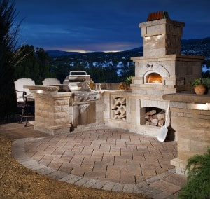 belgard pizza oven prebuilt unit
