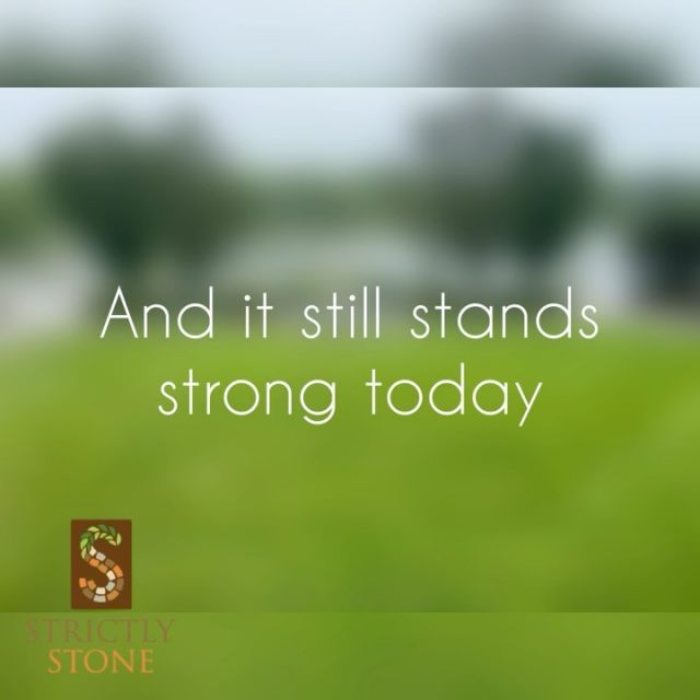 Wow! Nice to see that our workmanship lasts a lifetime. We are a rock solid company. Pun intended. #stonegods #strictlystone